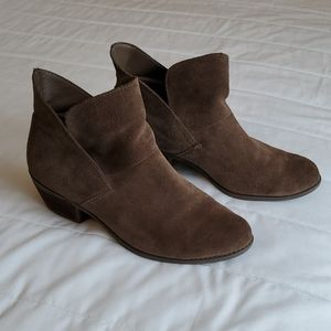 Me Too Taupe Suede Booties